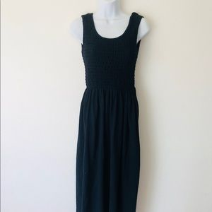 Moda international Vintage 90s Black maxi dress M